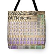 The Periodic Table Of Elements 1 Tote Bag