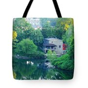 The Philadelphia Canoe Club At The Mouth Of The Wissahickon Tote Bag