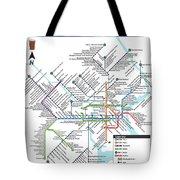 The Philadelphia Pubway Map Tote Bag