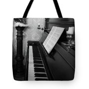 The Piano - Black And White Tote Bag