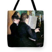 The Piano Lesson Tote Bag by Gustave Caillebotte