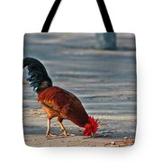 The Picking Rooster Tote Bag