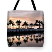Reflecting Palms At The Pier 22 Tote Bag