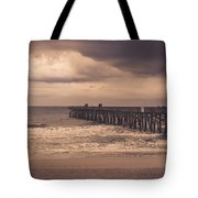 The Pier Before The Storm Tote Bag