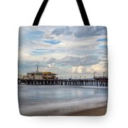 The Pier On A Cloudy Day Tote Bag