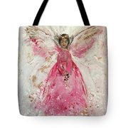 The Pink Angel  Tote Bag