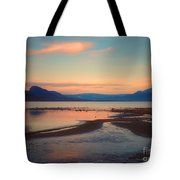The Pink Clouds Of January Tote Bag