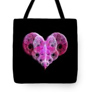 The Pink Heart Tote Bag