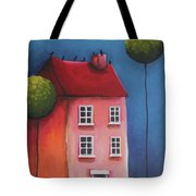 The Pink House Tote Bag