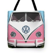 The Pink Love Bus Tote Bag
