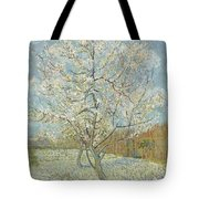 The Pink Peach Tree Arles, April - May 1888 Vincent Van Gogh 1853  1890 Tote Bag