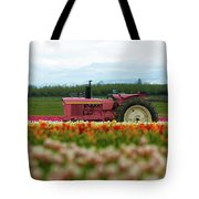 The Pink Tractor Tote Bag