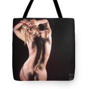 The Play With Red Ribbon Tote Bag