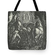The Ploughman Christian Ploughing The Last Furrow Of Life Tote Bag