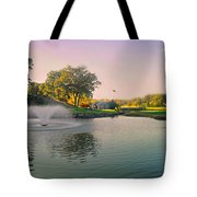 The Pond Fountain Tote Bag