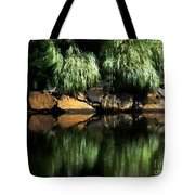The Pond On Lamplight Lane Tote Bag