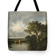 The Pond With Oaks Tote Bag