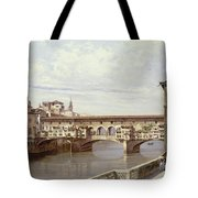 The Pontevecchio - Florence  Tote Bag by Antonietta Brandeis