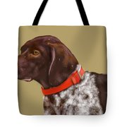 The Pooch With A Red Collar Tote Bag