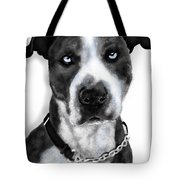 The Pooch With Blue Eyes Tote Bag