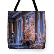 The Porch Of The European Collection Art Gallery At The Huntington Library In Infrared Tote Bag