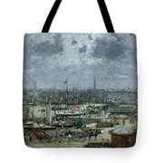 The Port Of Bordeaux Tote Bag by Eugene Louis Boudin