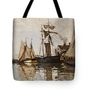 The Port Of Honfleur Tote Bag by Claude Monet