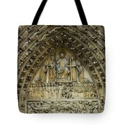 The Portal Of The Last Judgement Of Notre Dame De Paris Tote Bag by Fabrizio Troiani