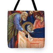 The Position Of Mary In The Tomb Fragment 1311 Tote Bag