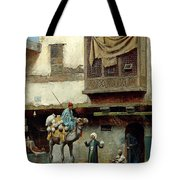 The Pottery Seller In Old City Tote Bag