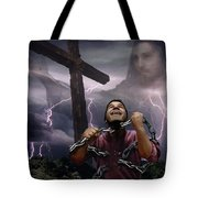 The Power Of Christ Tote Bag