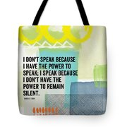 The Power To Speak- Contemporary Jewish Art By Linda Woods Tote Bag