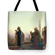 The Prayer Tote Bag by Jean Leon Gerome