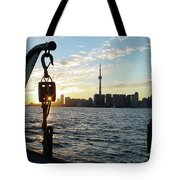 The Precision Of Sunset In The Harbour Tote Bag
