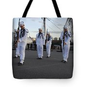 The Precision Rifle And Flag Drill Team Tote Bag