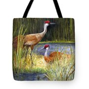 The Protector - Sandhill Cranes Tote Bag