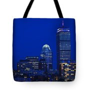 The Pru Lit Up In Red White And Blue For The Fourth Of July Tote Bag