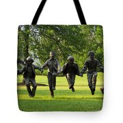The Puddle Jumpers At Byers Choice Tote Bag