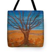The Pumpkin Tree Tote Bag by Dawn Vagts