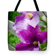 The Purple Flowers Tote Bag