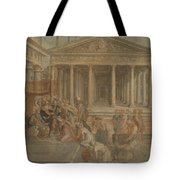 The Queen Of Sheba Before King Solomon Tote Bag