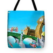 The Queens State Visit To Parliament Tote Bag