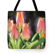The Queen's Tulips Tote Bag