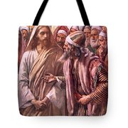 The Question Of The Sadducees Tote Bag