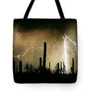The Quiet Southwest Desert Lightning Storm Tote Bag