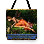 The Rabbit And The Dove Tote Bag