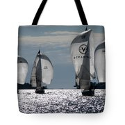 Sails Up - The Race Is On Tote Bag