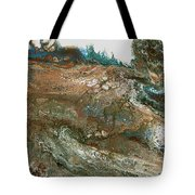 The Raging River-acrylic Pour#8 Tote Bag