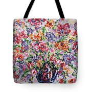 The Rainbow Flowers Tote Bag