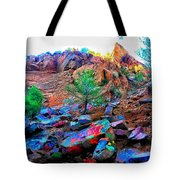 The Rainbow Mountain Tote Bag